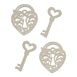Chipboard - Steampunk Dreams - Lock and Key Set (4pc) - 51 x 81mm | 2 x 3.1in