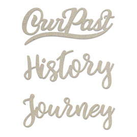 Chipboard - Steampunk Dreams - History Sentiments Set (3pc) - 77 x 81mm | 3 x 3.1in