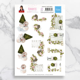 3D Diecut Decoupage A4 Sheet - Picket Fences - Precious Marieke