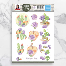 3D Diecut Decoupage A4 Sheet - Violet Table Settings - Jeanine's Art