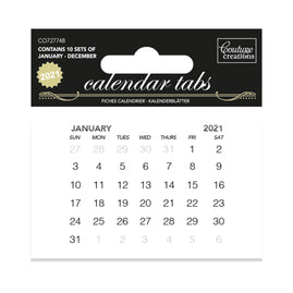 Calendar Tabs 2021 (10 sets of 12 months) - 47 x 74mm | 1.8 x 2.9in