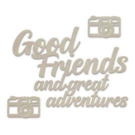 Chipboard Set - New Adventures - Good Friends - 82 x 57mm | 3.2 x 2.2in
