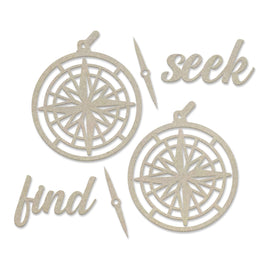 Chipboard Set - New Adventures - Seek and Find - 82 x 83mm | 3.2 x 3.2in