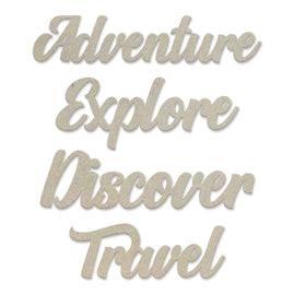 Chipboard Set - New Adventures - Adventure - 82 x 83mm | 3.2 x 3.2in