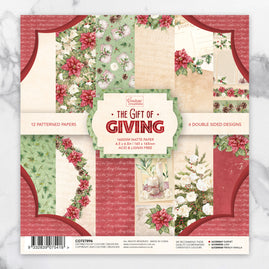 *Paper Pad - The Gift of Giving - 6.5 x 6.5in -24 sheets - 165 x 165mm | 6.5 x 6.5in
