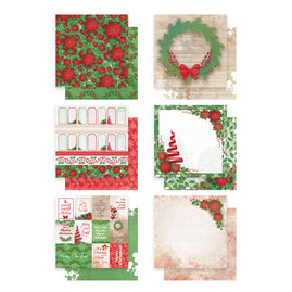 *Paper Pack - Merry Little Christmas - 12 sheets 6 designs - 304.8 x 304.8mm | 12 x 12in