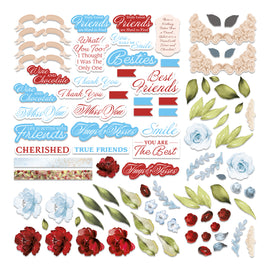 Diecut Ephemera Set - Blooming Friendship (58pc)