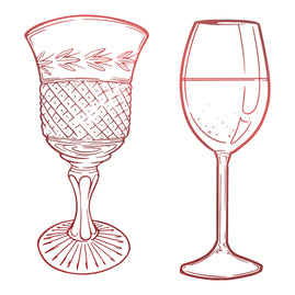 Mini Stamp - Blooming Friendship - Glassware (1pc)