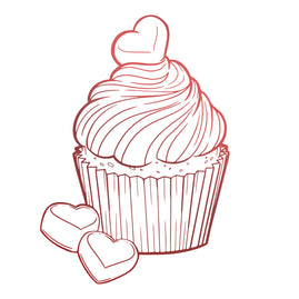 Mini Stamp - Blooming Friendship - Chocolate Cupcake (1pc)