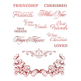 Stamp Set - Blooming Friendship - Cherished Friends (12pc)