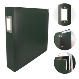 Album - Classic Superior Leather D-Ring Album - Forest Green