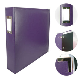 Album - Classic Superior Leather D-Ring Album - Grape Soda Purple