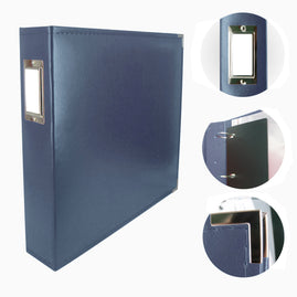 Album - Classic Superior Leather D-Ring Album - Cobalt Blue