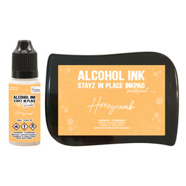 Stayz in Place Alcohol Ink Pad with 12ml reinker - Honeycomb Pearlescent