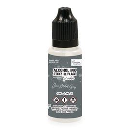 Stayz in Place Alcohol Ink Pad 12ml Reinker - Gun Metal Grey Pearlescent