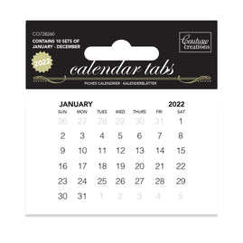 Calendar Tabs - 2022 - 10 sets of 12 months of 12 months