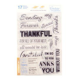 Stamp Set - My Thanks Sentiment (16pc) - 80 x 116mm | 3.1 x 4.5in