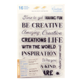 Stamp Set - Be Creative Sentiment (16pc) - 80 x 116mm | 3.1 x 4.5in