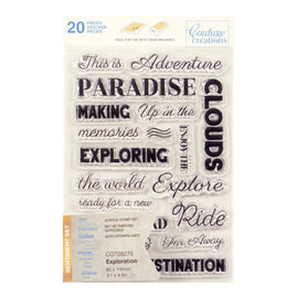 Stamp Set - Exploration Sentiment (20pc) - 80 x 116mm | 3.1 x 4.5in