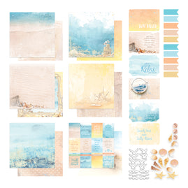 Collection Pack - Seaside Girl - 200gsm - 12 x 12 - (12 sheets, 6 postcards, sticker set)