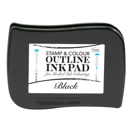 *Stamp and Colour Outline Ink Pad for Alcohol Ink Colouring - Black