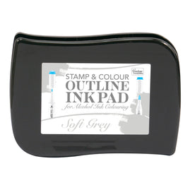 *Stamp and Colour Outline Ink Pad for Alcohol Ink Colouring - Soft Grey