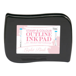 *Stamp and Colour Outline Ink Pad for Alcohol Ink Colouring - Light Pink