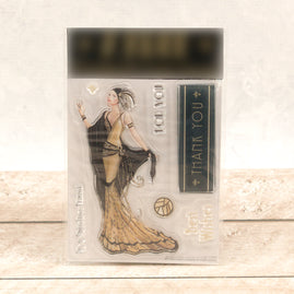 Covermount - Gold Lady - clear stamps