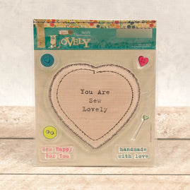 Covermount - Sew Lovely - clear stamps