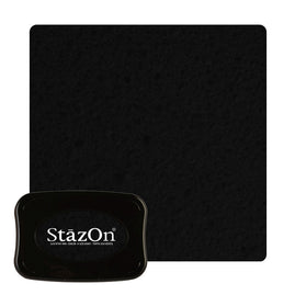 Staz On - Solvent Ink pad - Jet Black