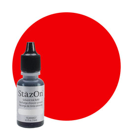 Staz On - Solvent Refill 15ml Blazing Red