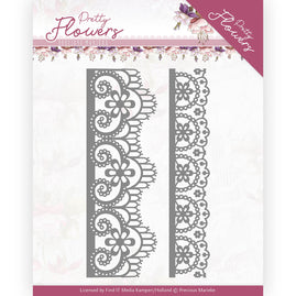 Dies - Precious Marieke - Pretty Flowers - Lace Border