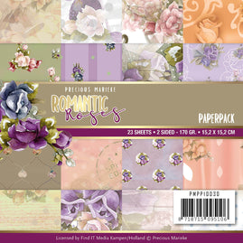 Paperpack - Precious Marieke - Romantic Roses  6 x 6in - 23 2-sided sheets - 16 designs