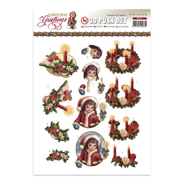 A4 Decoupage Sheet - Amy Design - Christmas Greeting
