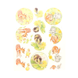 3D Diecut Decoupage Pushout Kit - Jeanine's Art - Young Animals - Ducklings and Rabbits