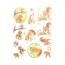 3D Diecut Decoupage Pushout Kit - Jeanine's Art - Young Animals - In the Forest
