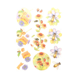 3D Diecut Decoupage Pushout Kit - Jeanines Art - Buzzing Bees - Sweet Bees