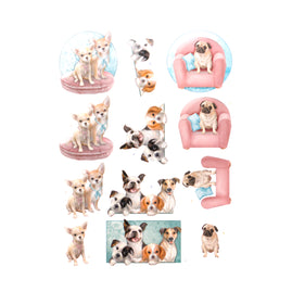 3D Diecut Decoupage Pushout Kit - Amy Design - Dog's Life - All kind of Dogs