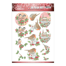 A4 Decoupage Sheet - Jeanine's Art - Lovely Christmas - Lovely Birds