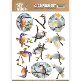 3D Pushout - Amy Design - Wild Animals Outback - Parrot