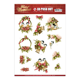 A4 Decoupage Sheet - Precious Marieke - A Touch Of Christmas - Birds