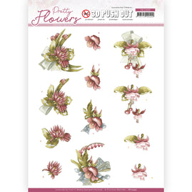 3D Push Out - Precious Marieke - Pretty Flowers - Red Flowers