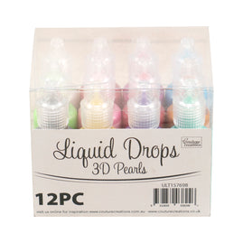 *Liquid Drops 3D Pearls - String of Pearls (12pc)