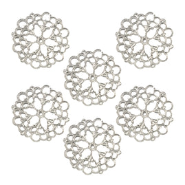 Charms - BB - Petal Doily Metal Charms (2pc) P*