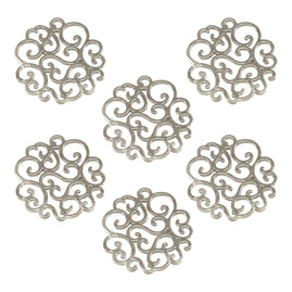 Charms - BB - Scalloped Doily Metal Charms (6pc)
