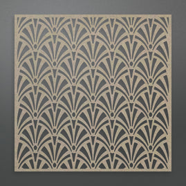 Chipboard - Fanned Background (1pc) - 80 x 80mm | 3.1 x 3.1in