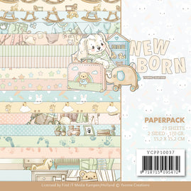 Paperpack - Yvonne Creations - Newborn 6 x 6in - 2-sided patterned sheets - 16 designs