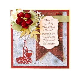 Mini Die - Blooming Friendship - Wine and Dine Mini Cutting Die (1pc)