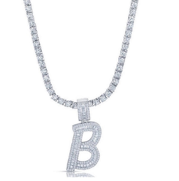Baguette Initial Necklace