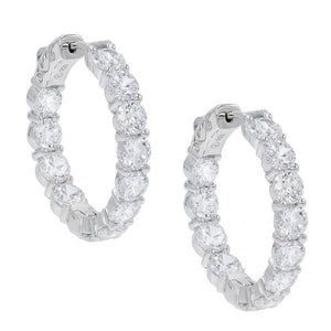 Mini Crystal Hoops